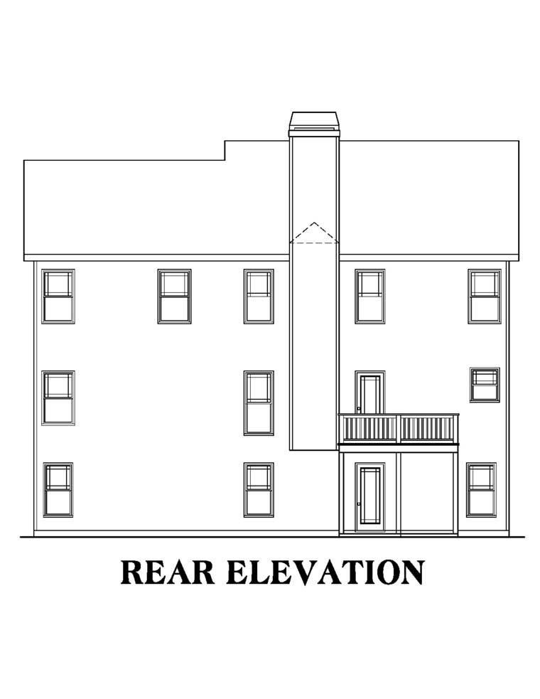 House Plan 72527 Rear Elevation