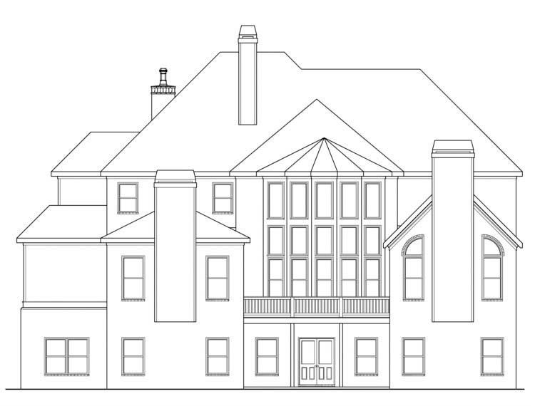 House Plan 72533 Rear Elevation