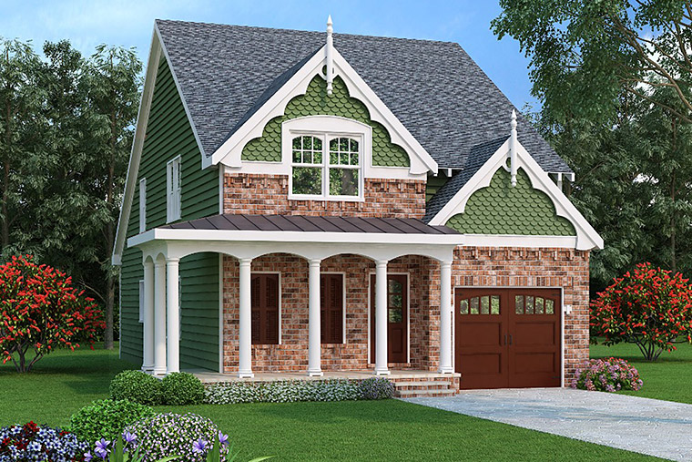 House Plan 72534 with 4 Beds, 4 Baths, 1 Car Garage Elevation
