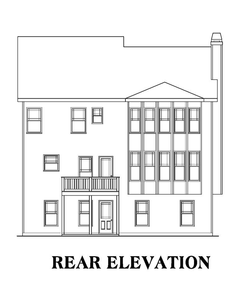 House Plan 72535 Rear Elevation