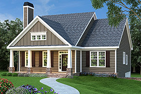 House Plan 72536 Elevation
