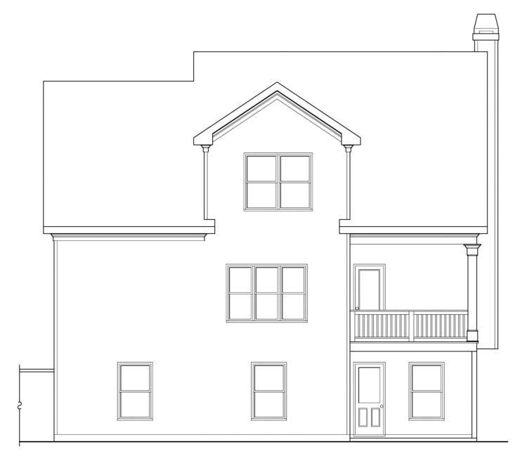 House Plan 72536 Rear Elevation