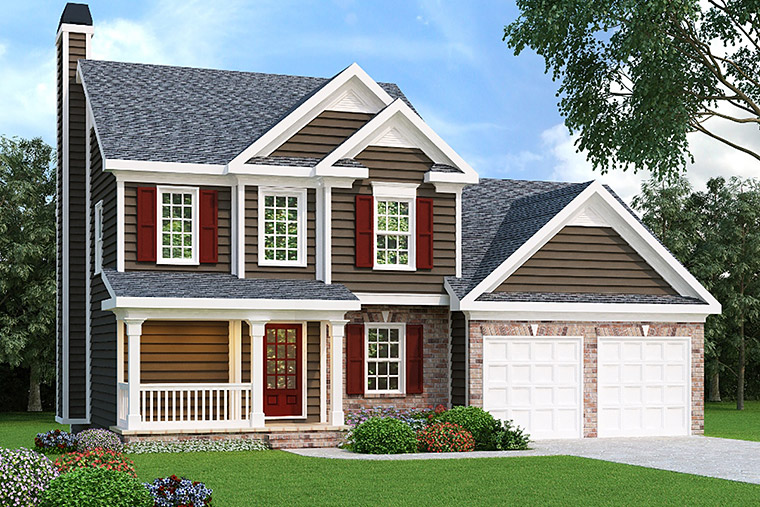 House Plan 72540 with 3 Beds, 3 Baths, 2 Car Garage Elevation