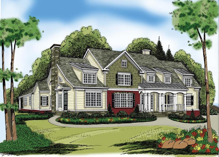 House Plan 72541 | Style Plan with 4416 Sq Ft, 5 Bedrooms, 5 Bathrooms, 3 Car Garage Elevation