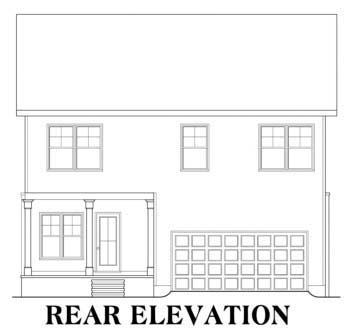 House Plan 72542 Rear Elevation