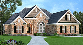 House Plan 72544 | Ranch Style Plan with 2406 Sq Ft, 4 Bedrooms, 2 Bathrooms, 2 Car Garage Elevation