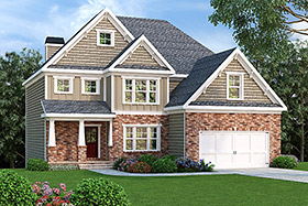 House Plan 72545 | Style Plan with 2372 Sq Ft, 4 Bedrooms, 3 Bathrooms, 2 Car Garage Elevation