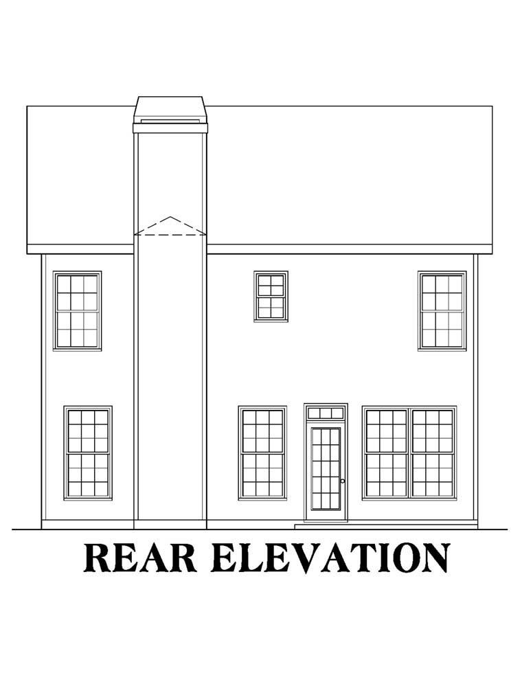 House Plan 72548 Rear Elevation