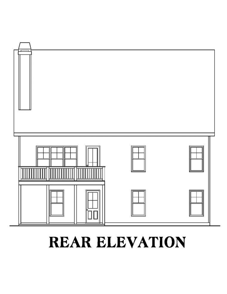 House Plan 72549 Rear Elevation