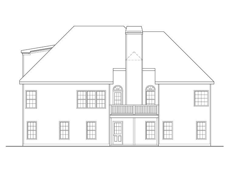 Ranch House Plan 72550 Rear Elevation