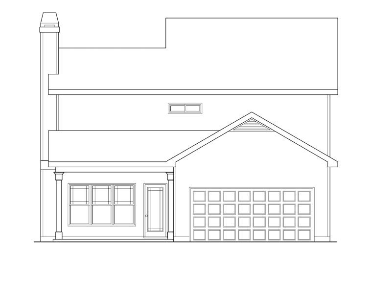 House Plan 72551 Rear Elevation