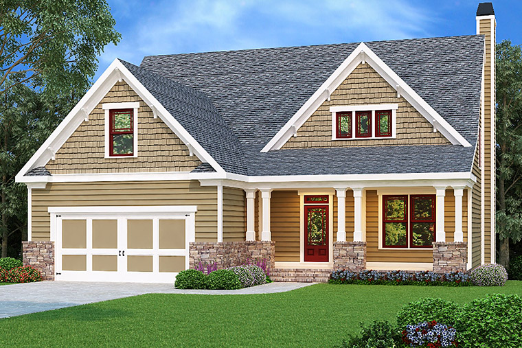 House Plan 72552 Elevation