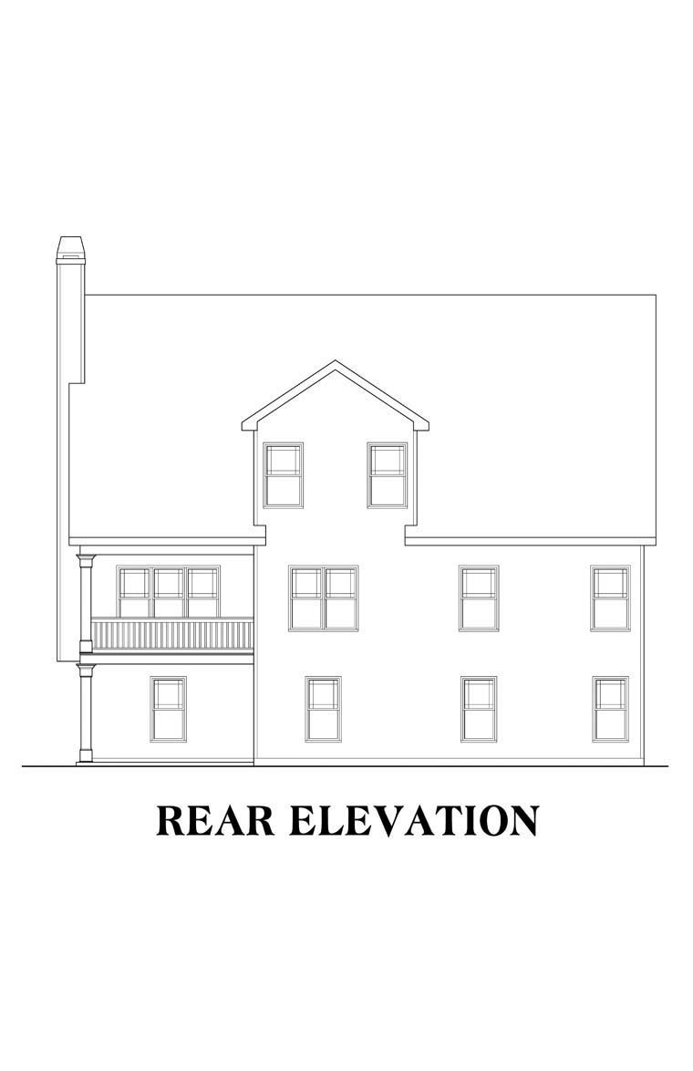 House Plan 72552 | Style House Plan with 2133 Sq Ft, 3 Bed, 3 Bath, 2 Car Garage Rear Elevation