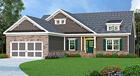 Ranch House Plan 72553 Elevation