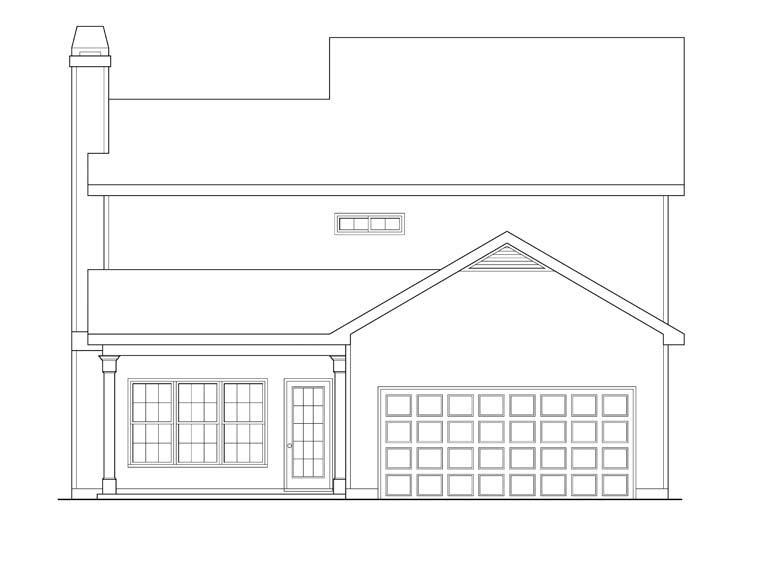 House Plan 72554 Rear Elevation