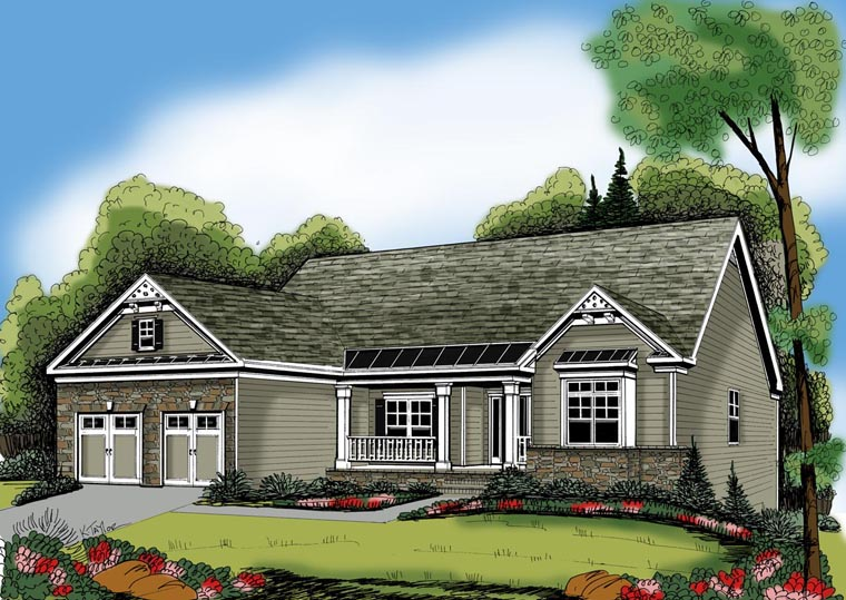 Ranch House Plan 72555 Elevation