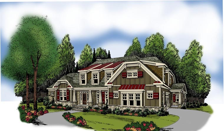 House Plan 72558 Elevation