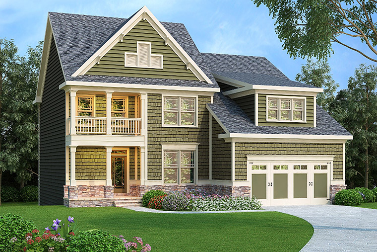 House Plan 72561 | Style Plan with 2372 Sq Ft, 4 Bedrooms, 3 Bathrooms, 2 Car Garage Elevation