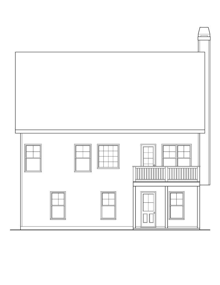 Ranch House Plan 72563 Rear Elevation