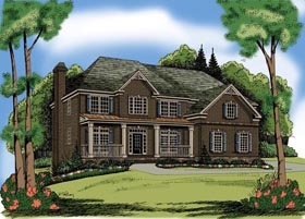 House Plan 72564 Elevation