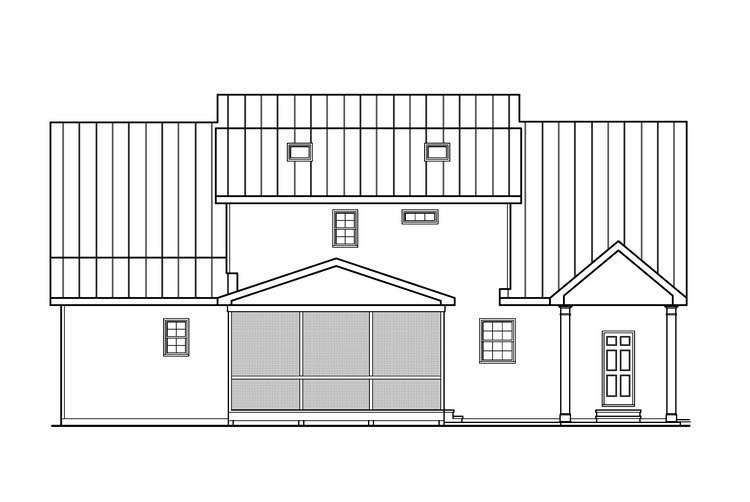 House Plan 72565 Rear Elevation