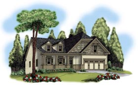 House Plan 72566 | Ranch Style House Plan with 2218 Sq Ft, 3 Bed, 2 Bath, 2 Car Garage Elevation