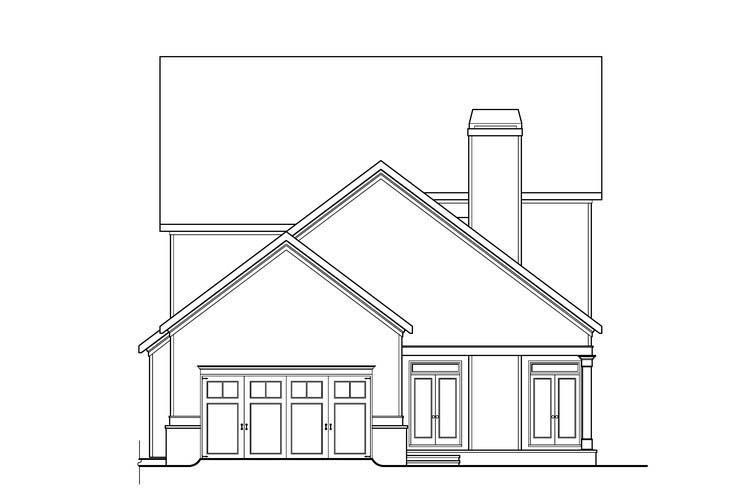 House Plan 72567 Rear Elevation