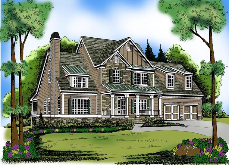 House Plan 72568 Elevation