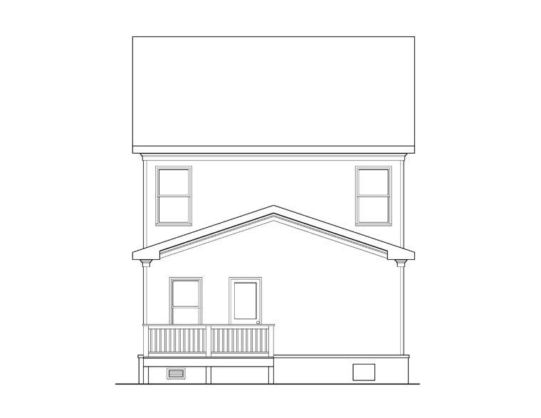 House Plan 72570 Rear Elevation