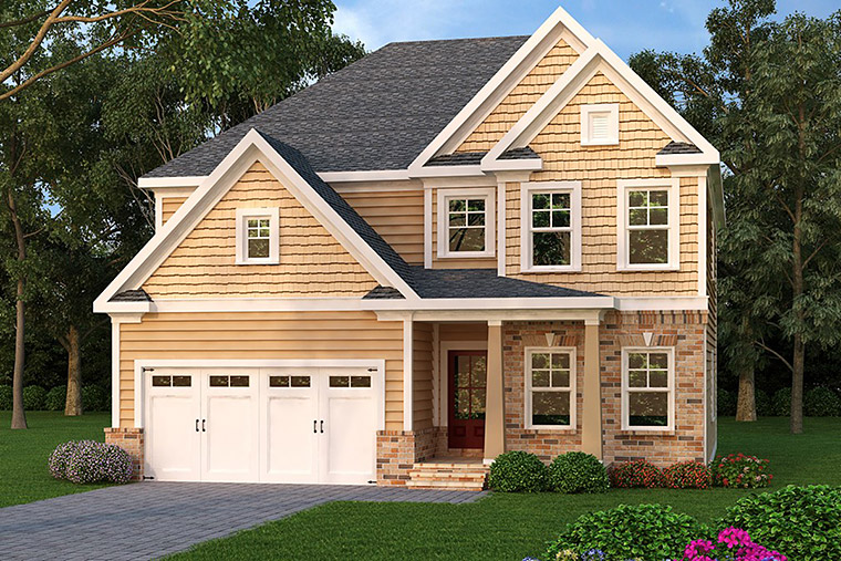 House Plan 72572 Elevation