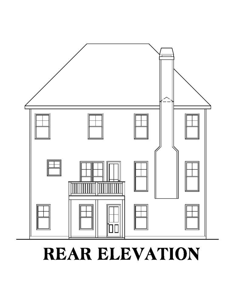 House Plan 72572 Rear Elevation