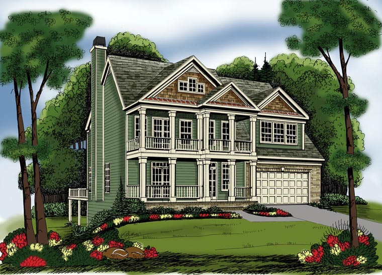 House Plan 72573 Elevation