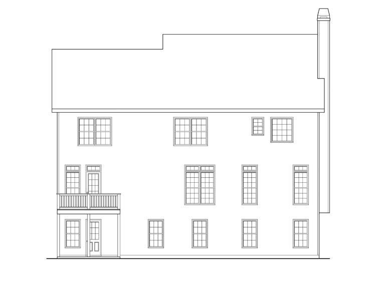 House Plan 72573 Rear Elevation