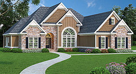 House Plan 72574 | Ranch Style Plan with 2406 Sq Ft, 4 Bedrooms, 2 Bathrooms, 2 Car Garage Elevation