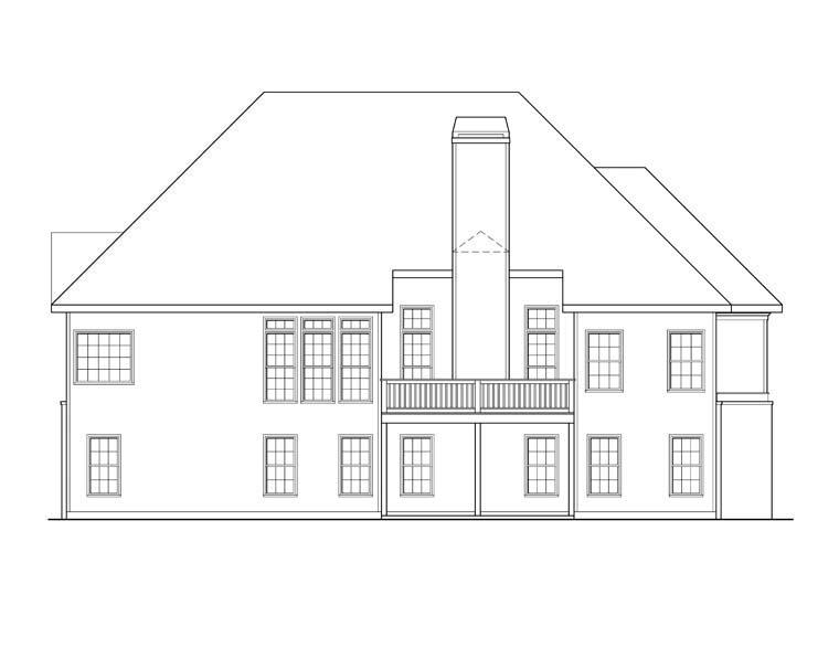 Ranch House Plan 72574 Rear Elevation