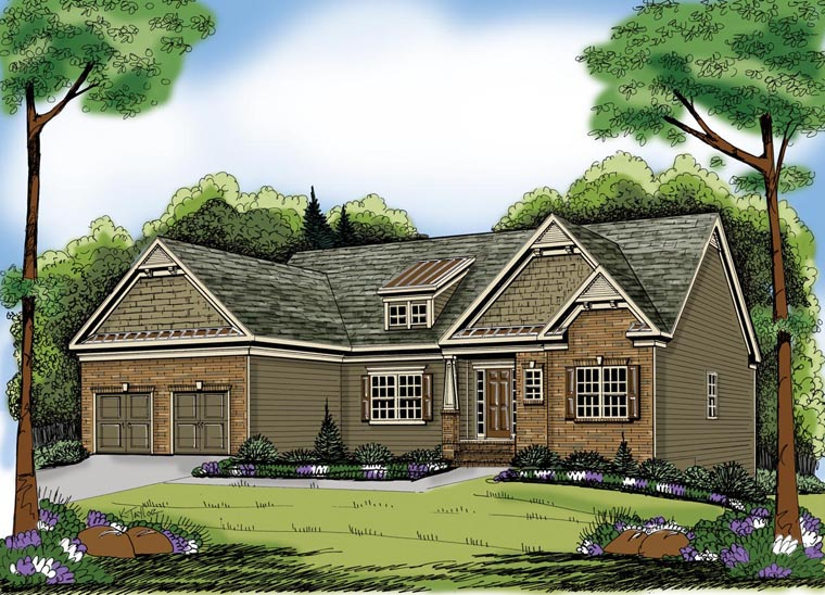 House Plan 72575 | Ranch Style Plan with 2225 Sq Ft, 4 Bedrooms, 2 Bathrooms, 2 Car Garage Elevation