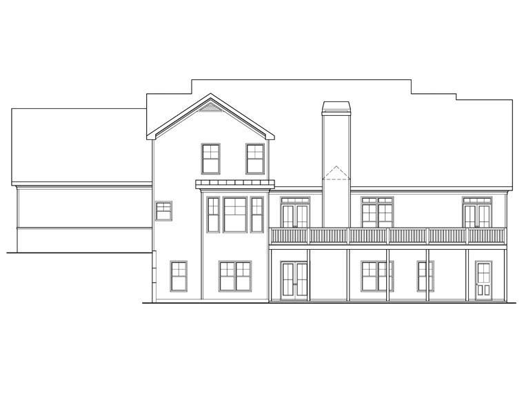 House Plan 72576 Rear Elevation