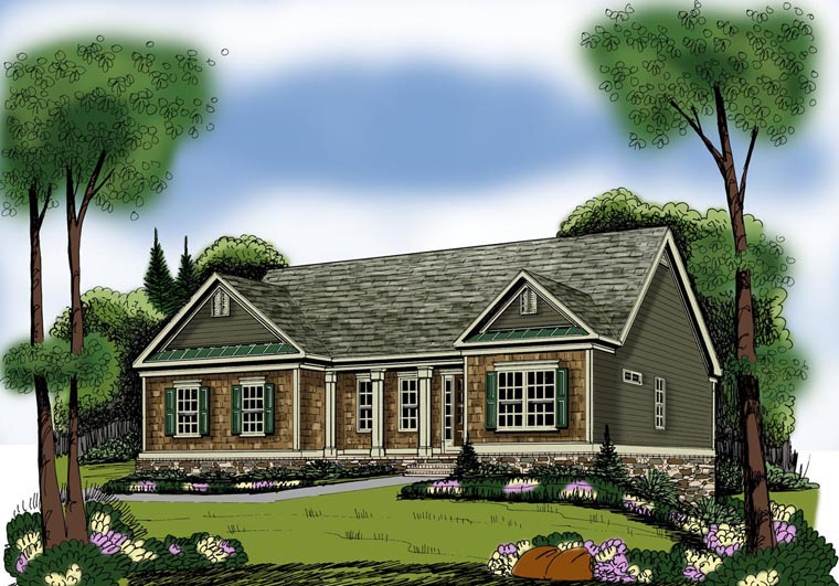 House Plan 72577 | Ranch Style Plan with 1960 Sq Ft, 3 Bedrooms, 2 Bathrooms, 2 Car Garage Elevation