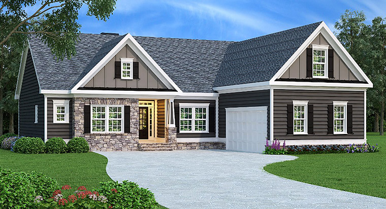 Ranch House Plan 72578 Elevation