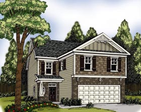 House Plan 72580 | Style Plan with 2064 Sq Ft, 4 Bedrooms, 3 Bathrooms, 2 Car Garage Elevation