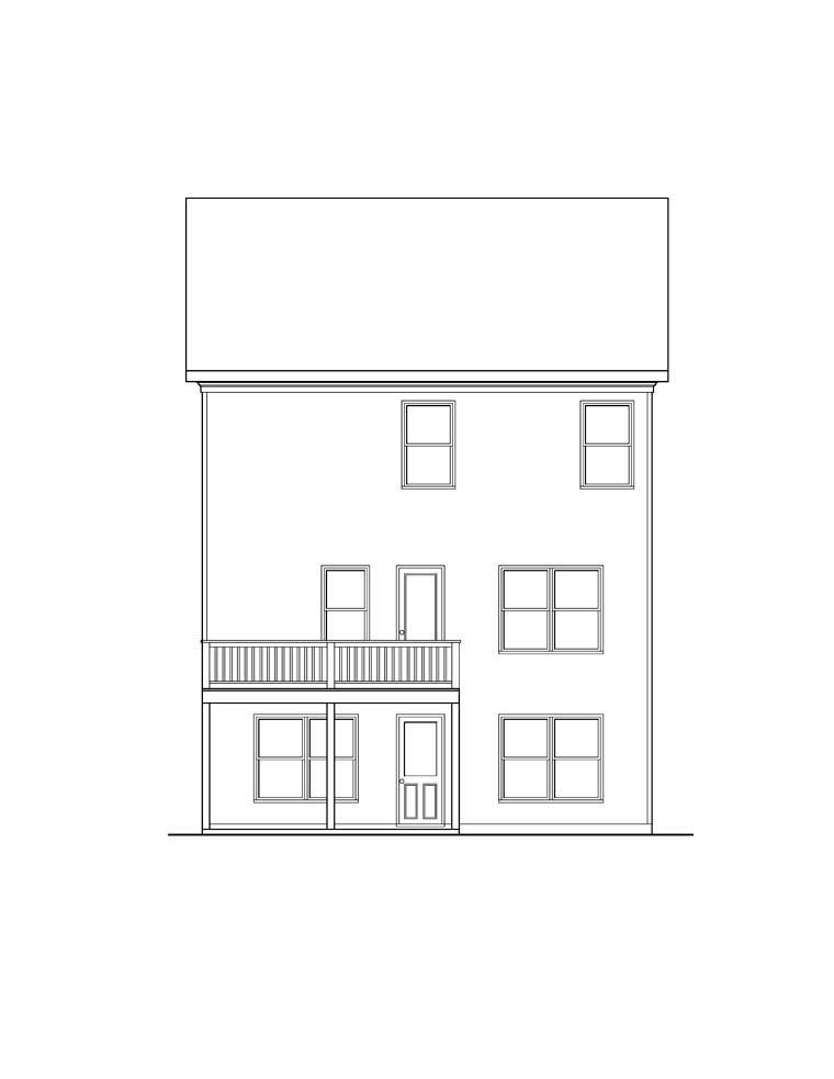 House Plan 72581 Rear Elevation