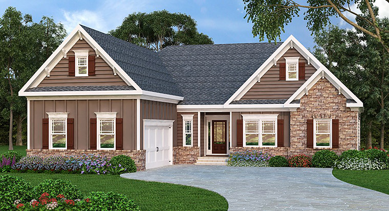 Ranch House Plan 72582 Elevation