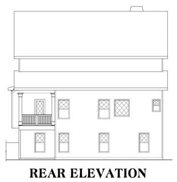 House Plan 72583 Rear Elevation
