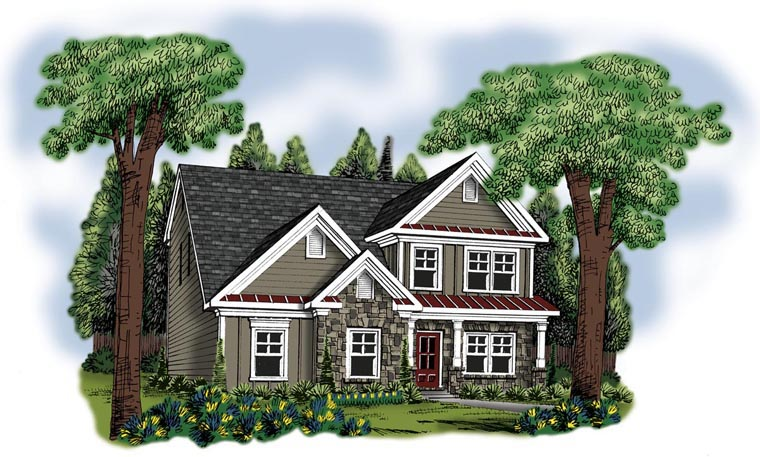 House Plan 72585 Elevation