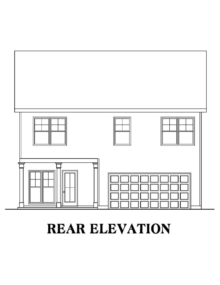 House Plan 72585 Rear Elevation