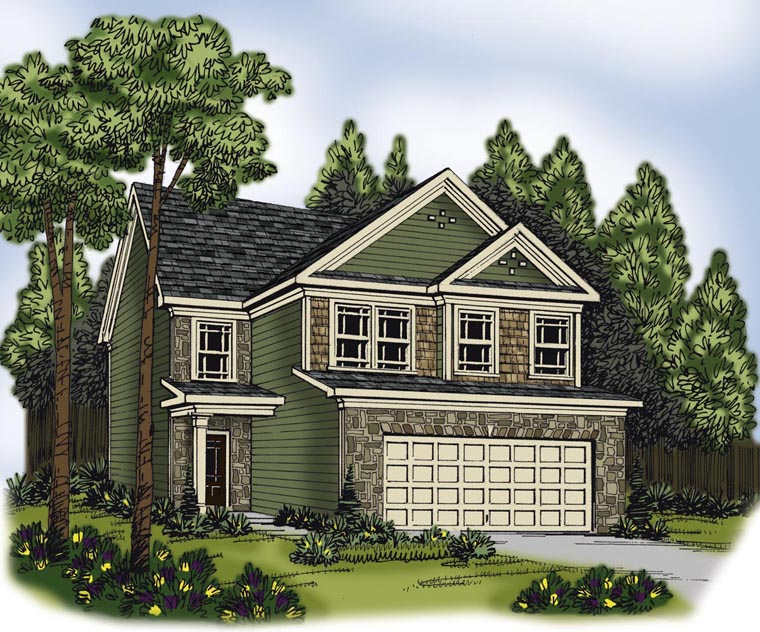 House Plan 72586 with 4 Beds, 3 Baths, 2 Car Garage Elevation