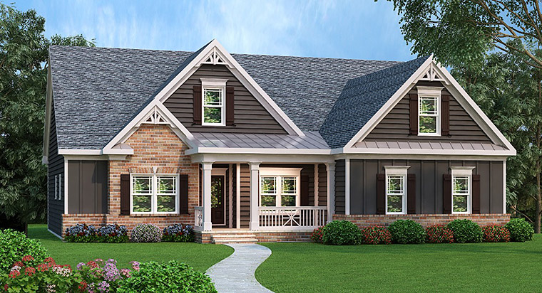 House Plan 72588 | Ranch Style Plan with 1934 Sq Ft, 3 Bedrooms, 2 Bathrooms, 2 Car Garage Elevation