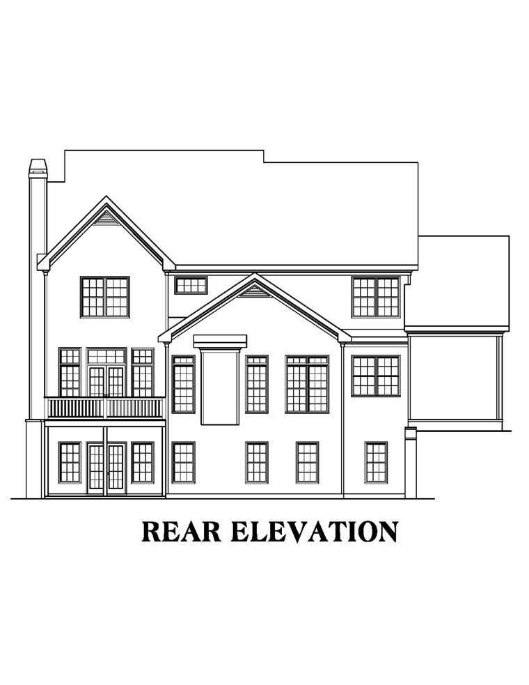 House Plan 72589 Rear Elevation
