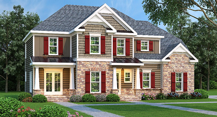 House Plan 72590 Elevation
