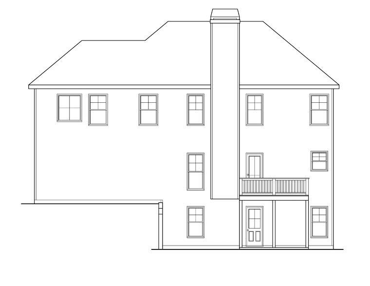 House Plan 72590 Rear Elevation